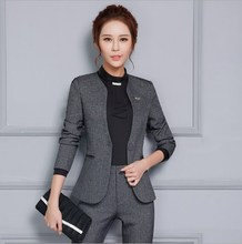 Women 2 Piece Ol Trouser Suit Plus Size Ladies Formal Business Pants Suits Black Gray Office Suits for Women Pantsuit 4XL