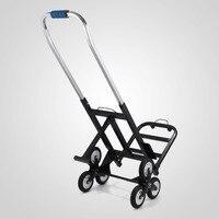 Treppensteigen Warenkorb 420 lb Kapazität All Terrain Treppensteigen Karre mit Backup Rädern Tragbare Folding Hand Truck