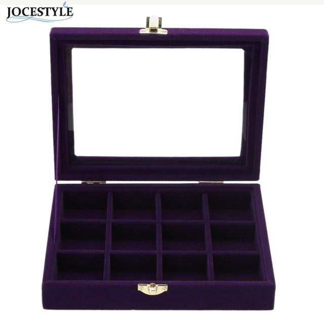 Velvet Jewelry Box Carrying Case Purple 34 Attice Jewelry Display