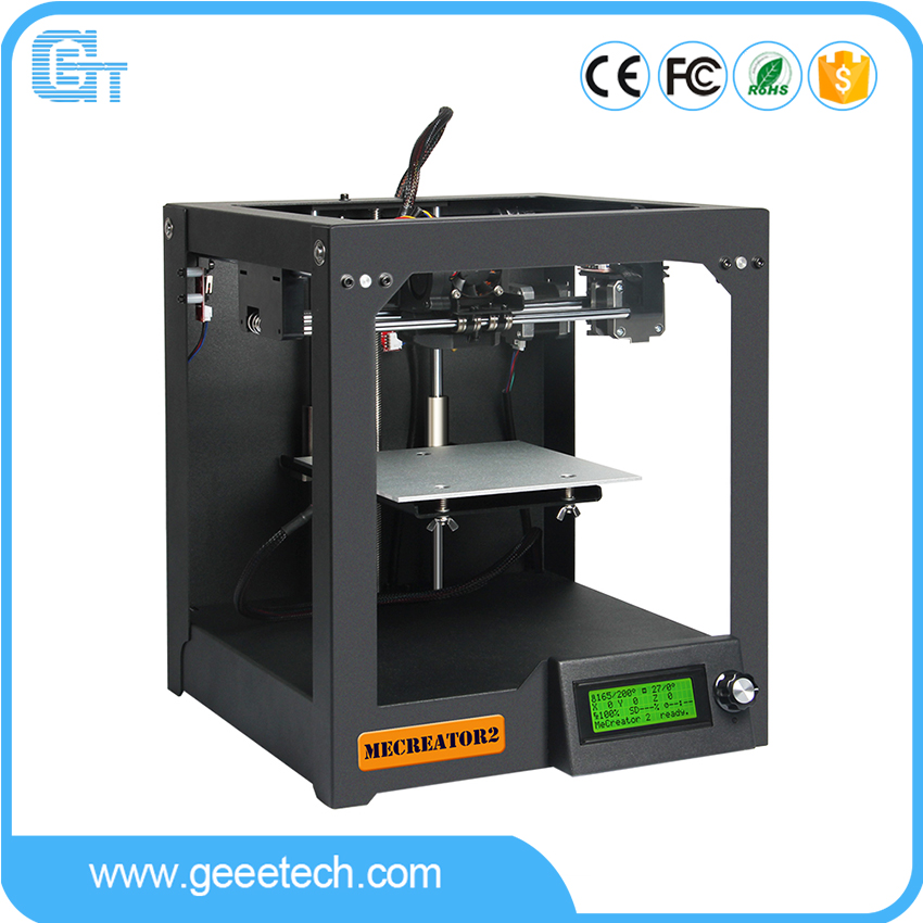 En gros Geeetech 3D Imprimante MeCreator 2 Bureau Entièrement Assemblé 160x160x160mm Haute Qualité En Acier Châssis