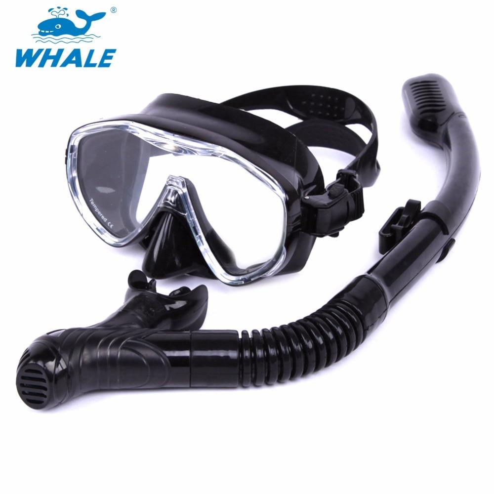 BALEIA Profissional Esportes Aquáticos Mergulho Máscara de Mergulho Máscara  de Mergulho Livre Com Snorkel Set 75d31bafef