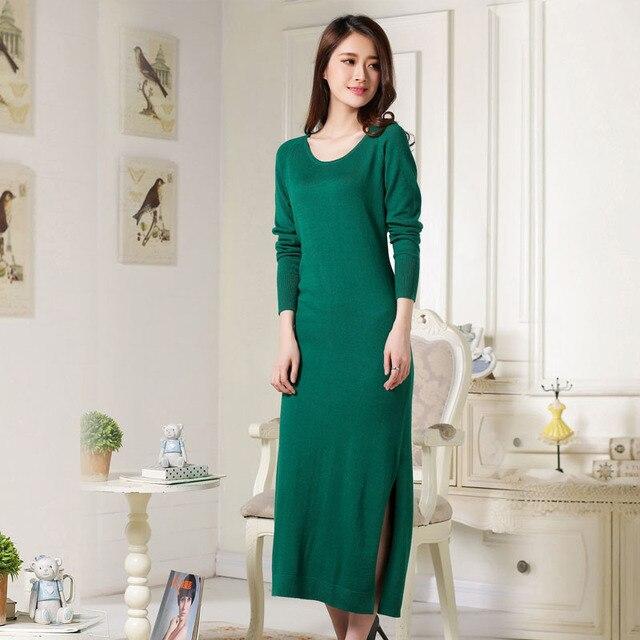 2018 Best Ing Autumn Winter Women S Wear Long Style Lady Cashmere Dress Y