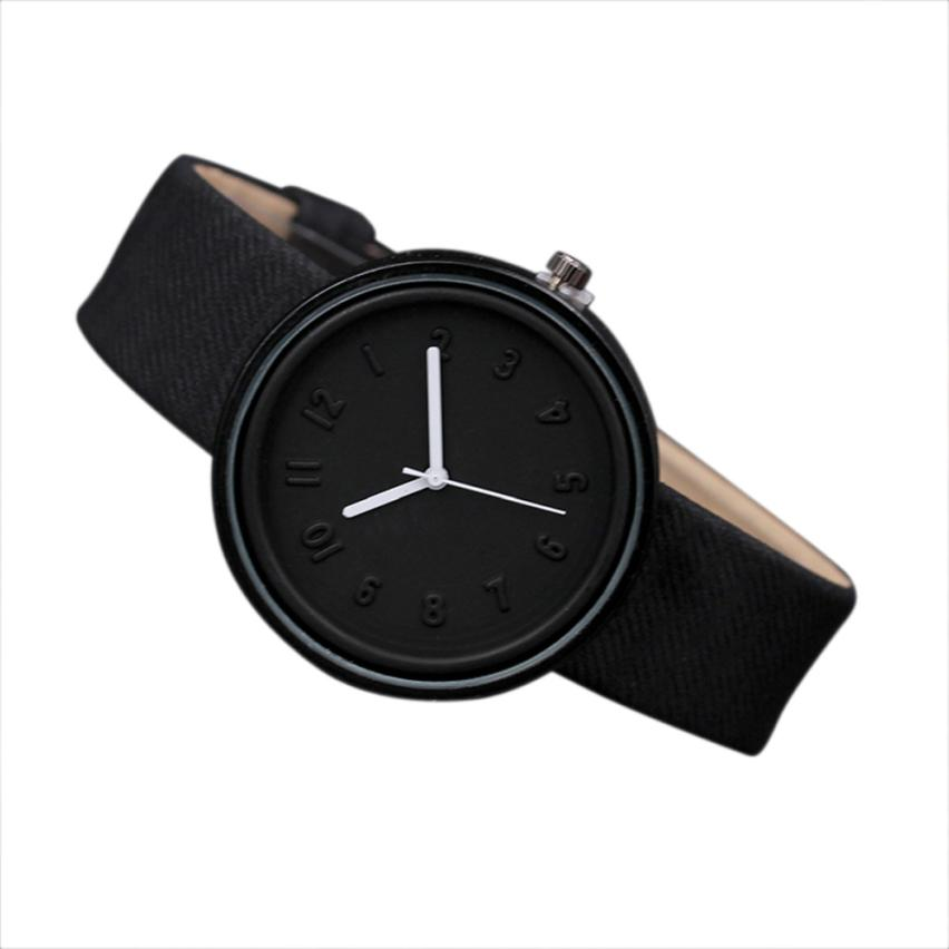 Quartz  Wristwatches Reloj  Unisex Simple Fashion   Hours  Watch  Luxury 2018    Female Canvas Belt Woman Watches  18MAR7