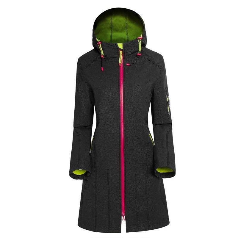 SAENSHING Damen Softshell Jacke wasserdichte Outdoor-Raincoat Wandern Kleidung
