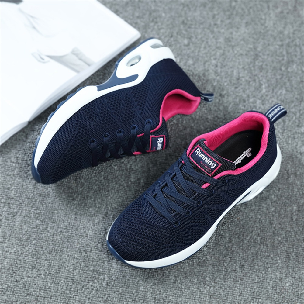 New Summer Sneakers Women Breathable Mesh Running Shoes Damping Sport Shoes Woman Outdoor Walking Zapatos lady sports shoe 7.5