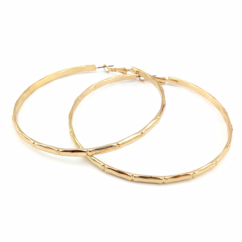 Hot Hoop Earrings Smooth Circle Basketball Brincos Celebrity Brand Loop For Women Jewelry