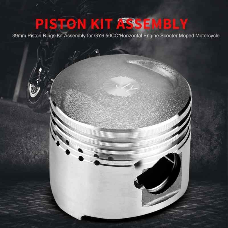 Kit de segments de Piston de 39mm pour moteur Horizontal GY6 50CC Scooter cyclomoteur moto Motocicleta