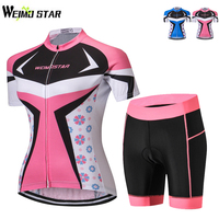 WEIMOSTAR Cycling Jersey Sets Breathable Cycling Clothing MTB Road Mountain Bicycle Bike Wear Womens Short Sleeve Shorts Suit