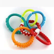 Baby Silicone Beads Round Teething Ring Food Grade Nursing Bpa Free High Quality Teether Toys