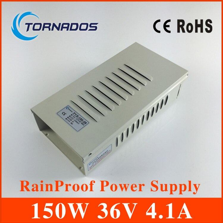 CE ROHS alimentation à découpage étanche à la pluie extérieure 36 v 150 w 4.1A FY-150-36