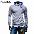 Top Sale 2017 Jamickiki Brand Men's Fashion Hoody Hoodies and Sweatshirts High Quality Side Button Design Sportswear 4 Colors