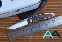 JUFULE OEM Mnandi M390 Blade snake wood TC4 Titanium handle folding knife Copper washer hunt camp Pocket Survival EDC Tool knife