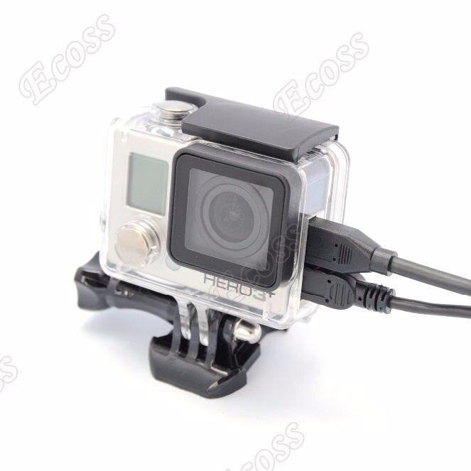 GoPro Hero 4 הירו 3+ מגן Shell Case בצד פתיחת דיור התיק מחובר AV USB כבל HDMI עבור Gopro Hero4 3 אביזרים