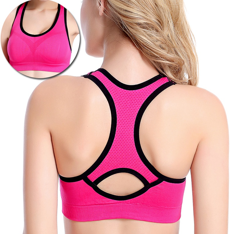 bfecedf6e88c9 AmynickA Brand Women Sexy Sport Yoga Top Bra Running Gym Workout Fitness  Sports Shirt Woman Yoga Vest Bras Girls 5 Colors A101-in Sports Bras from  Sports ...