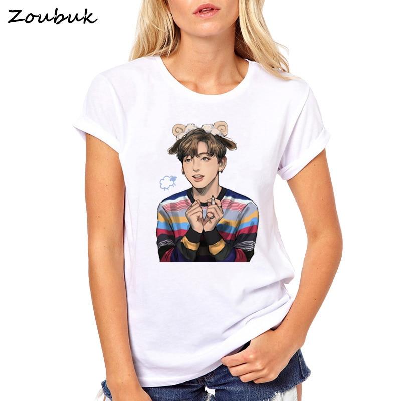 New Bangtan Boys T-shirt bts T Shirt Women kpop JUNG KOOK JIMIN SUGA v k-pop girl k pop BTS fans Tee shirt womens clothing