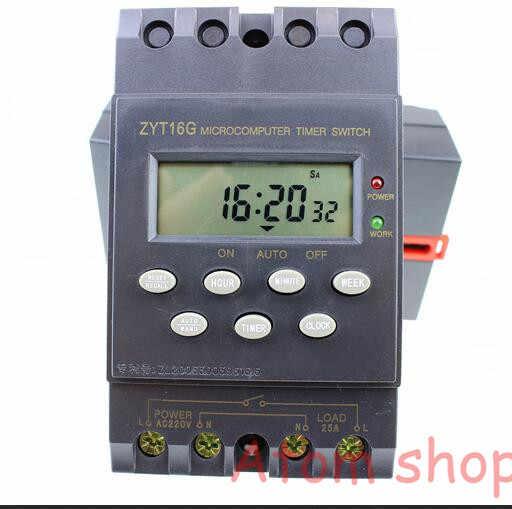 ZYT16G cyfrowy włącznik czasowy automatyczny program/programowalny wyłącznik czasowy Microsoft LCD programator czasowy 220VAC 25A wersja angielska