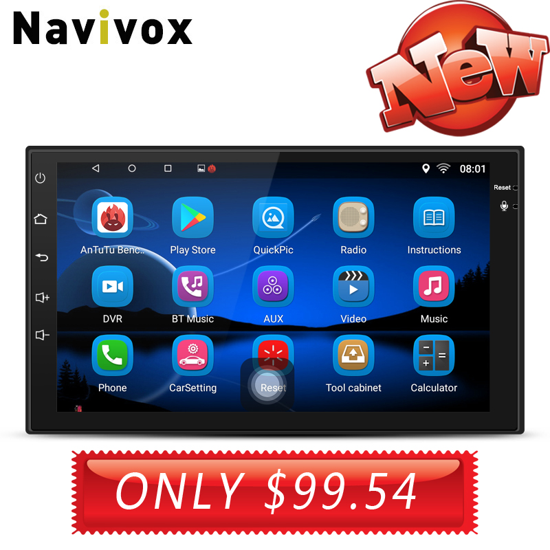 Navivox 7 ''2 din стерео Мультимедиа Универсальный gps Радио Аудио плеер с gps для nissan для Kia для Honda Для hyundai no dvd