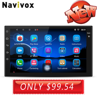 Navivox 7'' 2 din Car Stereo Multimedia Universal GPS Radio GPS Audio Player for nissan For Kia For Honda For Hyundai no dvd