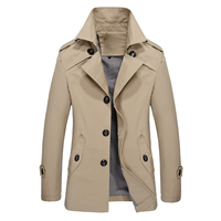 2018 Winter New Men's Casual Plus Velvet Thick Wool Warm Long Trench Coat / Men's Single breasted Business Windbreaker Jacket