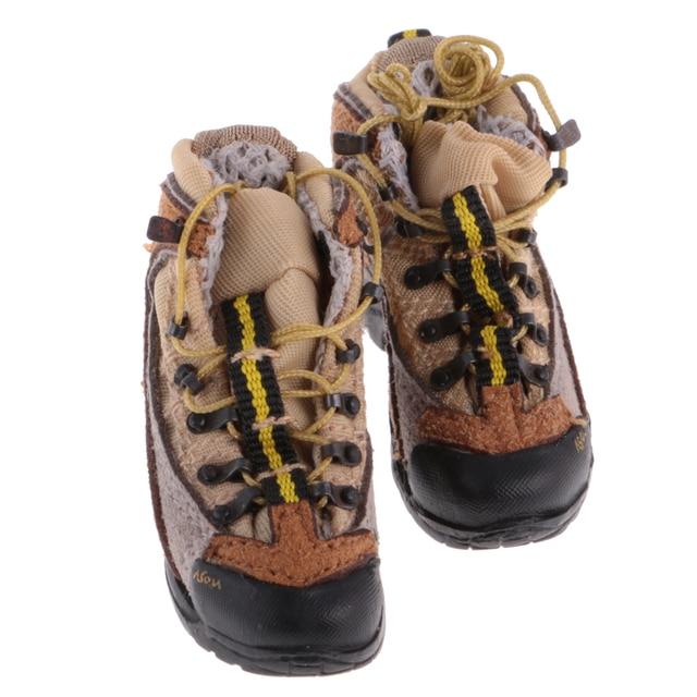 MagiDeal Juguetes de Zapatos Cuero 1/6 Escala Goma Hombres para Militar Figura 12 Pulgadas - #a spykwH