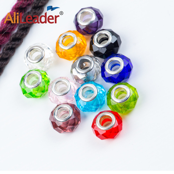 African Hair Beads Dreadlock Beads Cuffs Clips Spiral Crystal Beads Glass Beads Loose Spacer Bracelet Jewelry Making Diy фото