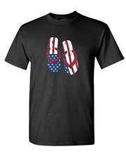 Cheap Graphic T Shirts Men's Crew Neck American Flip Flop cute sexy beach 4th july Short Office Tee