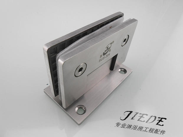 Shower room 304 bathroom accessories folder glass hinge hinge glass door clamp casting stainless steel bathroom clamp 90 degrees