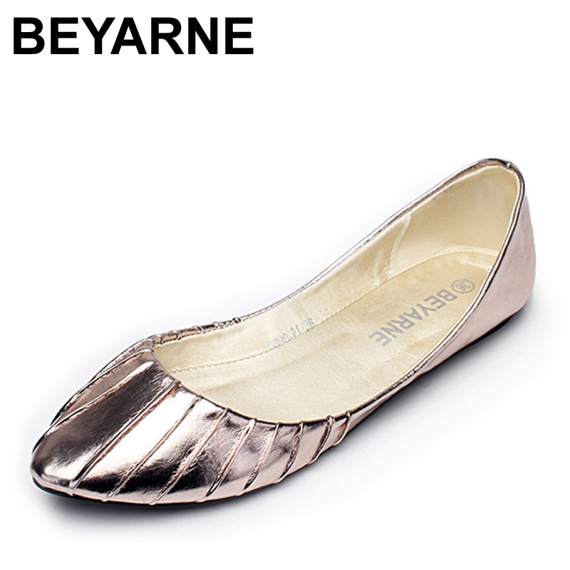 BEYARNE Flats for Women Pointed Toe Soft Outsole Flat Heel Shoes Single Street Fashion Flats Plus Size 35-41 Free Shipping кольца page 9