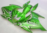 Free Shipping Newest FZ6R ABS Plastic Bodywork Set For Yamaha FZ 6R 2009 Motorcycle Green Star