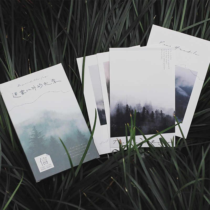 30 Sheets/Set Mooie Hemel Landschap Serie Postkaart/Wenskaart/Wens Kaart/Kerst en Nieuwjaar geschenken Kaarten
