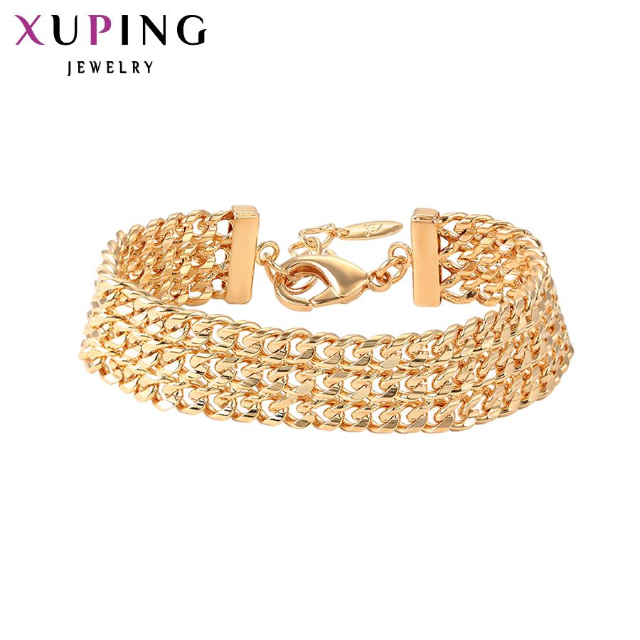 Xuping Vintage Fashion High Quality Bracelets Gold Color Plated Wild Style for Women Man Black Friday Gift S104 75796