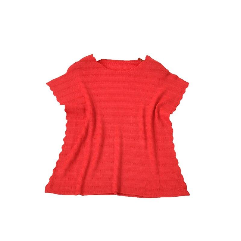 Deux shirt apricot Dentelle Élastique Nouvelle Mince Garment Miyake Ciel Fold Côtés T gris Color Noir Gratuite rose Sur Plis Mode Tout allumette Les pu Livraison Chemise 80vmnOwN