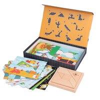 NEW Wooden Jigsaw Toys For Children Early Educational Game Montessori Oyuncak Toys For Boys Girls To Gift