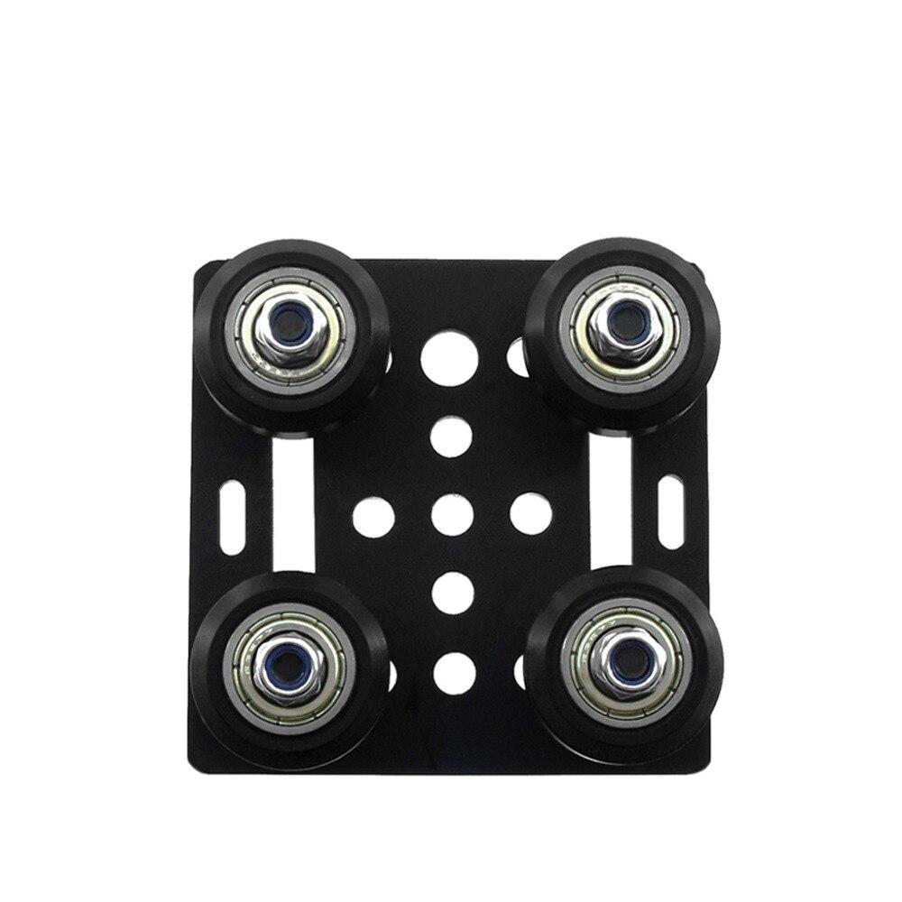 cheapest 3D Printer Part 2020 Openbuilds V-Slot Gantry Plate Set 20mm Special Slide Plate for Aluminum Profiles V-slot Mini Five Roulette