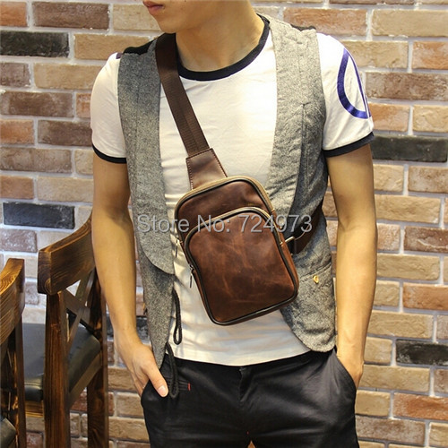 men fashion chest bags outdoors waist-bag,man belt bag leather fanny pack - Lotus Warehouse store