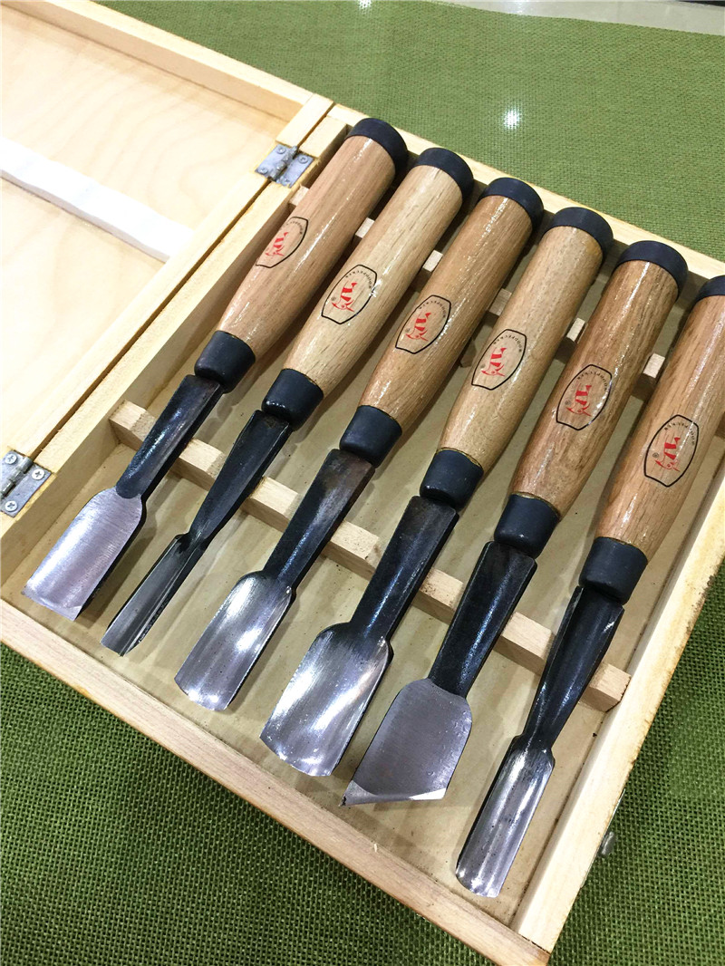 New High Quality 6Pcs Dry Big Hand Wood Carving Tools Tree-root Carving Chip Detail Chisel Set Knives Tool