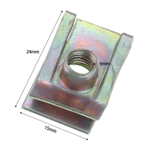 Image 5 - Yetaha 10Pcs Auto Fastener M5 M6 M8 Clips For Car Motor Tread Panel Spire Nut Universal Speed Zinc Mounting Clamp
