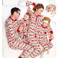 Família roupas combinando natal alce pijamas pjs sleepytime mãe filha filho pai da criança pijama família clothing