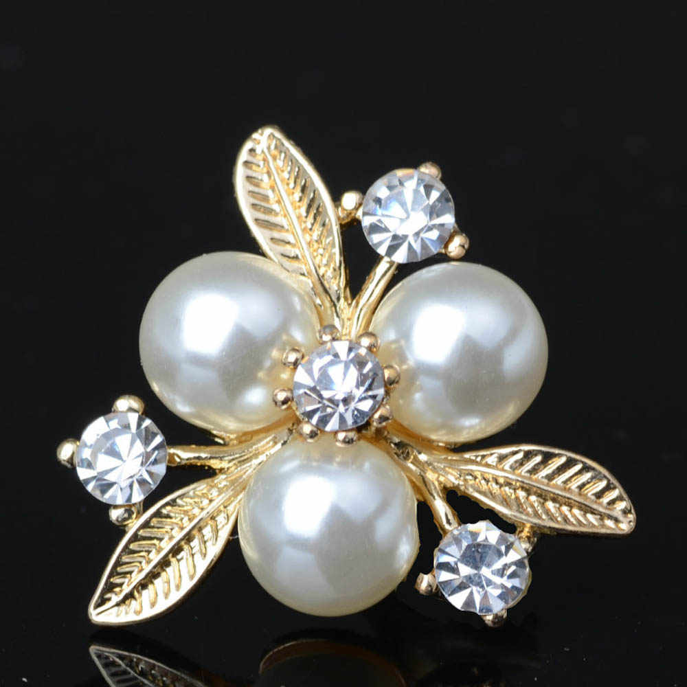 10pcs lot Pearl Gold Rhinestone Buttons Flatback Embellishment for Craft  DIY Hair Bow Bridal Bouquet 4e5b48cc2d40
