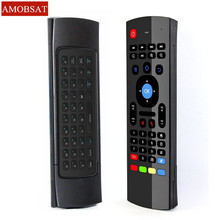 AMOBSAT MX3 2.4G Wireless Keyboard Controller Remote Control Air Mouse for Smart Android 7.1 TV Box x96 mini s905w tx3 tvbox