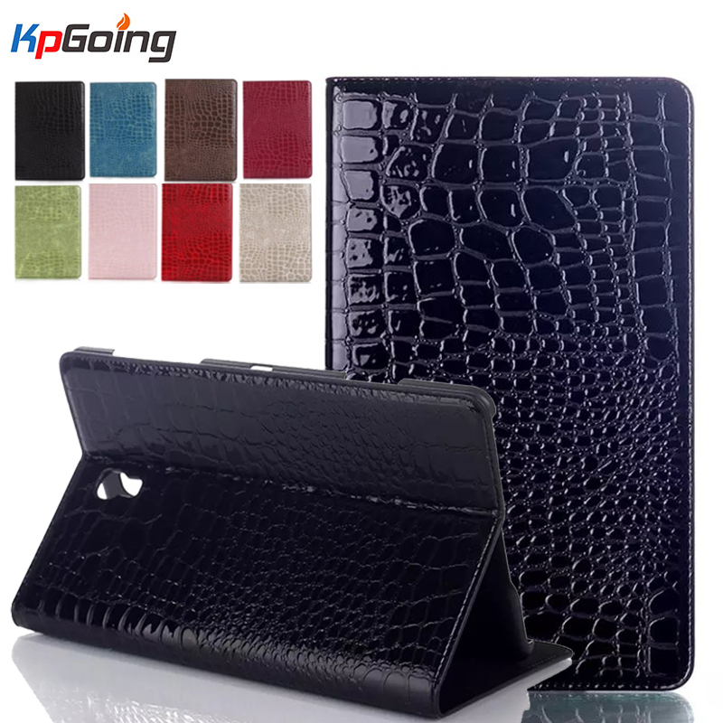 For Samsung Galaxy Tab S 8.4 T700/T705 Faux Crocodile Case Leather Cover For Galaxy Tab S 8.4 inch Protective Case Cover Bag luxury folding flip smart pu leather case book cover for samsung galaxy tab s 8 4 t700 t705 sleep wake function screen film pen