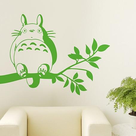Totoro Decal Japanese Cartoon Totoro Wall Stickers Decal Wall Decor Home  Decoration Totoro Decal