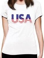独立記念日アメリカ米国旗月のギフト女性tシャツカスタムプリントカジュアルoネックトップtシャツ100%