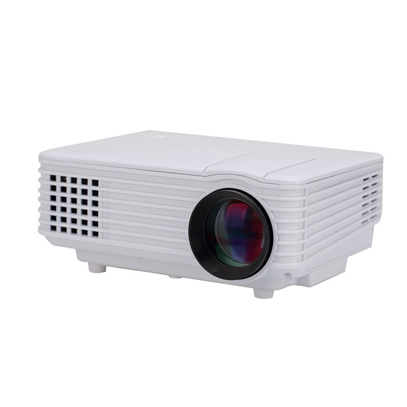 RD805 Portable Mini LED Projector 800 Lumens 800*480 Support RED/BLUE 3D Moive Multimedia Home Projector