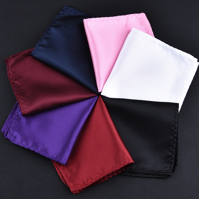 Hand-made Turned Finish Hankerchief Pure Color  Hankies For Men's Suit Pocket Square Solid Cotton Handkerchiefs Without White