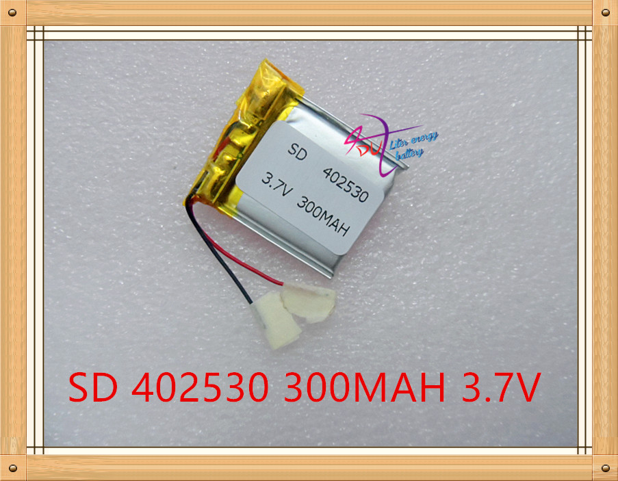 Liter energy battery 3.7V lithium polymer battery charging board 300mAh 402530 042530 Bluetooth roolls recorder
