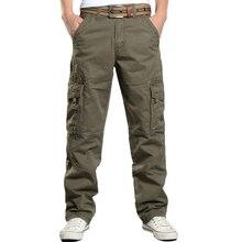 Брюки карго мужские повседневные мешковатые штаны с несколькими карманами Pantalon Homme мужские уличные военные тактические хлопковые брюки одежда