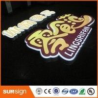 Shop Front Vacuum Blister 3D Acrylic Letters LED Sign