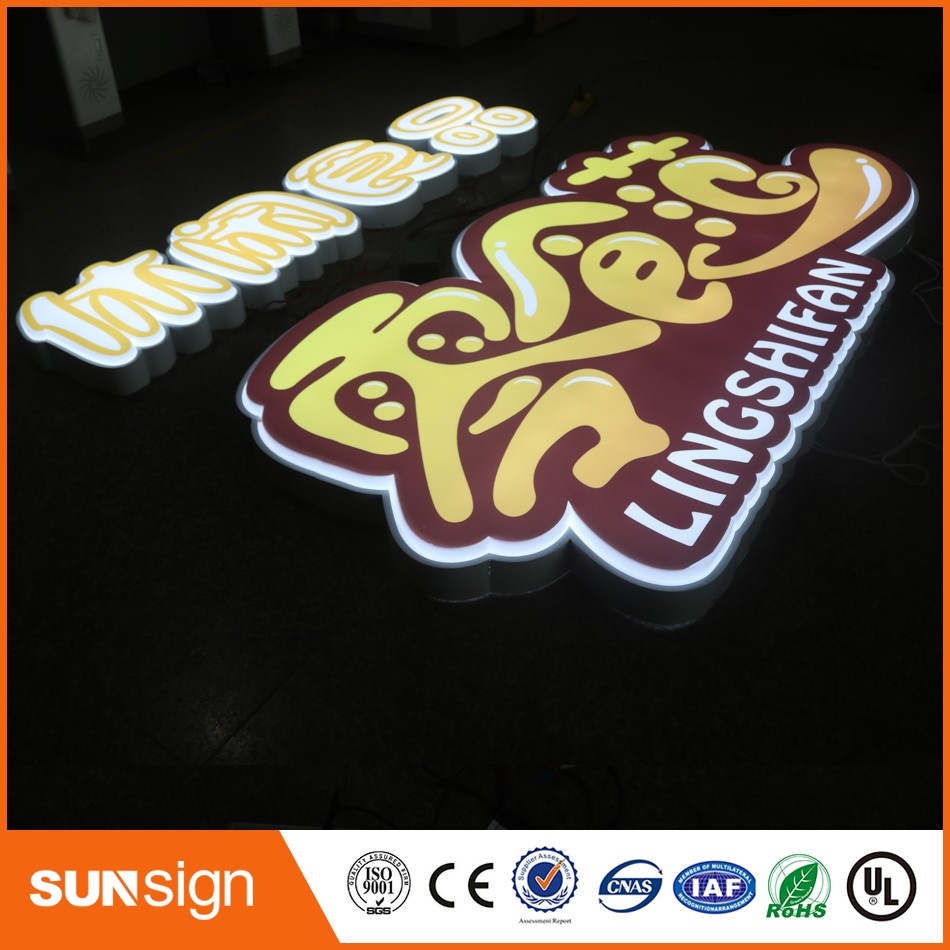 Store Front Vacuum Formed 3D Acrylic Letters LED Sign