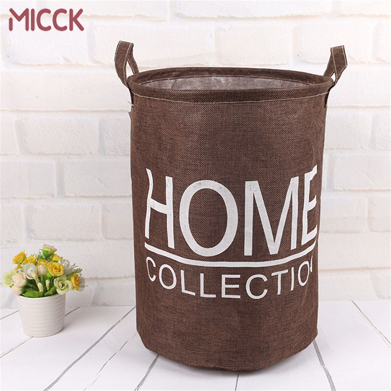 MICCK Fashion Home Laundry Basket Folding Large Kid Toys Sundries Clothing Organizer Dirty Laundry For Bathroom Storage